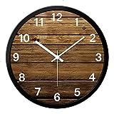 Vinteen Südostasien-Art-Wanduhr-Stille Weinlese-Beschaffenheit Art Timepiece und Horologe Kreatives Hauptdekoration-Wohnzimmer-Quarz-Uhr-Uhren (Größe : M)