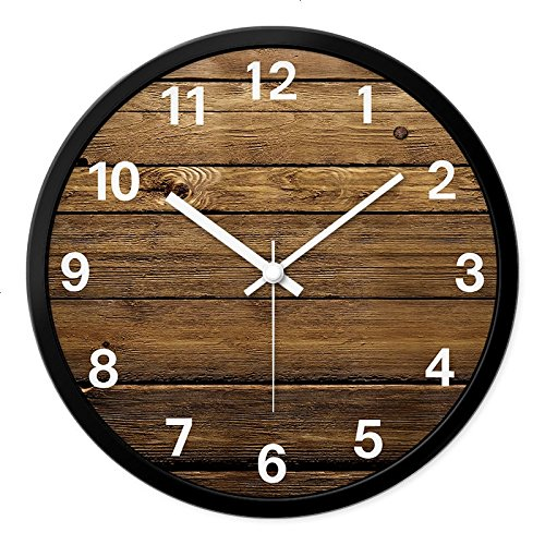 Vinteen orologio da parete in stile sud-est asiatico silent vintage texture art timepiece e horologe creative home decoration living room orologi al quarzo (dimensione : m)