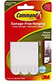 3M  Command Damage-Free Medium Picture Hanging Strips 17201-ES