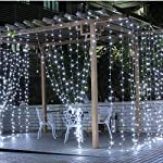 [2 Pack] BOLWEO Solar Powered String Lights,Solar Fairy Lights,16.4Ft 50LEDS,Waterproof Wire Lighting for Indoor Outdoor Christmas Tree Halloween Home Garden Decoration(Cool White) 12