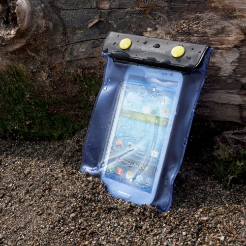 BoxWave Étui pour Apple iPhone 3 g-BoxWave AquaProof iPhone 3 g-Pochette de transport étanche avec Double Protection des boutons-pressions et Ziploc, avec fenêtre plastique et lanière (J