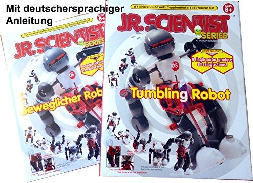 Tanzender Roboter selber bauen mit Purzelbaummodus mit engl. + deutschem Lehrheft Tumbling Robot