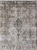 Nain Trading Vintage Royal 383x290 Orientteppich Teppich Dunkelgrau/Beige Handgeknüpft Pakistan Design Teppich Modern