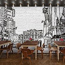 Sproud Foto Personalizada Pintadas En Blanco Y Negro De La Pintura Mural Y El Europeo Y Americano 3D Arte Arquitectónico Croquis 3D Wallpaper 200Cmx140Cm
