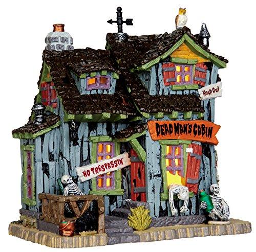 Lemax - Dead Man's Cabin - 24cmx21,5cmx13,5cm - Beleuchtetes Fahrerhaus - Spooky Town - Halloween Village - Dorf
