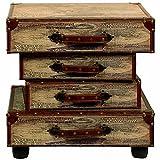 Carrick Design Ltd, uk home, CBWJT Koffer Tisch, Holz, Mehrfarbig