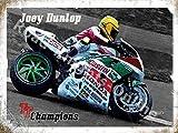 Joey Dunlop TT Champion Isle of Man Rennen Honda Motorrad Metall/Wandschild aus Stahl 15 x 20 cm