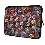 Luxburg® NEU DESIGN Neopren Sleeve Weiche Hülle Tasche Für 13Laptop/Notebook/Tablet–Farbige Daisies