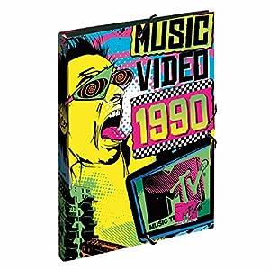 MTV - Carpeta gomas, color amarillo y azul (Montichelvo 21386)