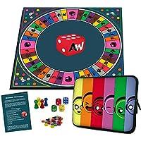 Alleswisser - Das Brettspiel, interaktives Quiz-, Wissens- und Familienspiel mit App für iOS und Android mit Tasche