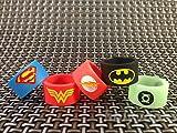 VAPE Bands ( PACK OF 3 RANDOM DESIGN ) 19 mm x 12 mm New Batman Superman Flash Wonder Woman Green Lantern Glow in the Dark für RTA RDA ZERSTÄUBERN uksellingsuppliers