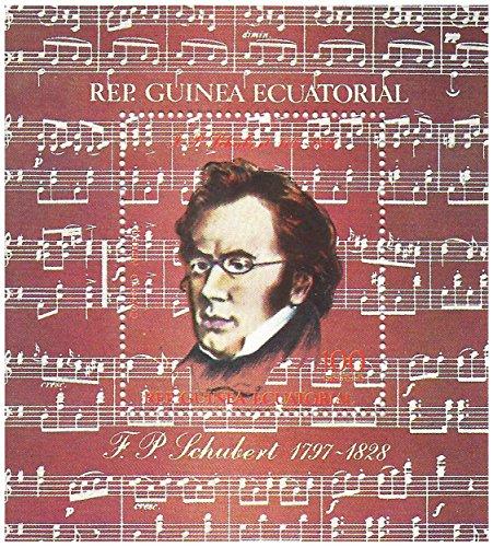 Franz Schubert Minze Sammler Miniatur-Briefmarkenbogen mit 1 Briefmarke - post / frisch
