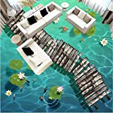 DDBBhome Wasserdichte Bodenbilder/Wandbild, Motiv: Louts Custom Foto-Boden-Tapete, 3D Wasserdichte Boden-Dekoration, Custom per Square