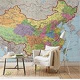 Rureng 3D Room Wallpaper Benutzerdefinierte Foto Vlies Wandmalereien Farbe China Politische Karte Malerei Tv Hintergrund Wall Wallpaper Für Wände 3D-250X175Cm