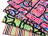 City & Roads Mehrfarbige Kinderzimmerdrucke, 4-teiliges Fat