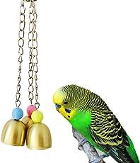 TickTocking Vogel Glocken Kauspielzeug für Parrot Aras Graupapageien Wellensittich Kakadu Sittiche Nymphensittiche