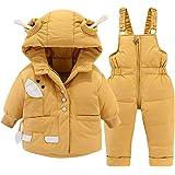 Trajes de Nieve Bebé Invierno Encapuchado Abajo Chaqueta de Nieve + Pantalones de Esquí Abrigo de Plumas 2 Piezas NiñOs Niñas
