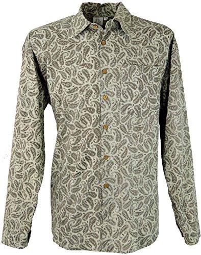 Goa Hippie Hemd, Herrenhemd / Männerhemden Beige