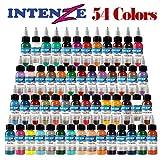 LVYY Kit De Pigment De Haute Qualité 54 Tatouage Permanent d'encre De Tatouage De Couleurs De Base