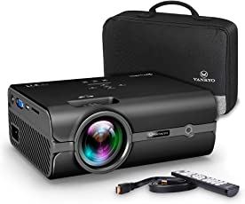 VANKYO Leisure 410 Mini Beamer LED Projektor 2500 Lumen ,50000 Stunden Heimkino Beamer Full HD 1080P unterstützt ,Kompatibel mit Fire TV Stick HDMI VGA USB AV TF für Smartphone Laptop,schwarz