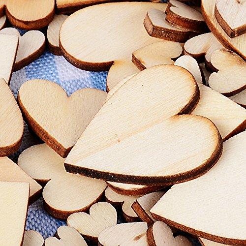 Holzherzen, unlackiert | 300 Stück
