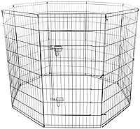 OxGord 122Cm 8-Panel Faltung Draht Exercise Stift Für Haustiere, 163 X 163 X 122 Cm (Lxbxh)