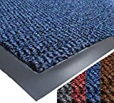 UAREHOME HEAVY DUTY NON SLIP BARRIER MAT LARGE SMALL RUGS RUNNER KITCHEN DOOR HALL (40x60, Blue)