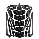 Lidauto 3D Motorrad Tankdeckel Aufkleber HD Motorräder Decals Flame Grafiken,Black