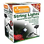 Kingfisher 50 White LED Solar String Lights 4
