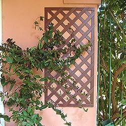 Set de 2 Celosías 1x0,50 m MADERA COMPOSITE. Marca: B Cottage. Color madera natural