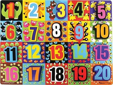Melissa & Doug Jumbo Numbers Wooden Chunky Puzzle (20