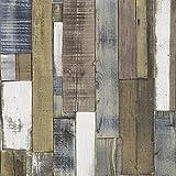Rasch Authentic Holz Hölzern Beam Panel Geprägt Strukturtapete - Braun