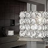 MIA Light Kristall Würfel Tisch Leuchte ↥145mm/ Kristall/Modern/ Chrom/Nacht Lampe Kristalllampe Kristallleuchte Nachttischlampe Nachttischleuchte Tischlampe Tischleuchte