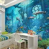 Mkkwp 3D Geprägte Sea World Fisch Fototapeten Wandbilder Tapeten Für Kinder Schlafzimmer Wohnzimmer Wandkunst Dekor Minion Tapete-200Cmx140Cm