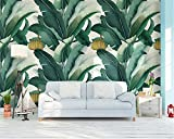 BZDHWWH Benutzerdefinierte Tapete Hand Gezeichnet Vintage Banana Leaf Banana Wohnzimmer Sofa TV Hintergrund 3D Tapete Wandbild Papier Peint,50cm (H) x 70cm (W)