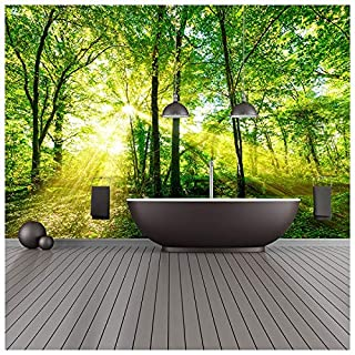 azutura Green Trees Wall Mural Forest Nature Photo Wallpaper Living Room Bedroom Decor available in 8 Sizes XXX-Large Digital