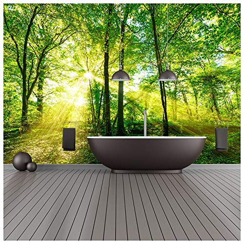 Price comparison product image azutura Green Trees Wall Mural Forest Nature Photo Wallpaper Living Room Bedroom Decor available in 8 Sizes XXX-Large Digital