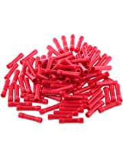 Amazingdeal 100PCS Insulated Straight Wire Butt Connector Electrical Crimp Terminals