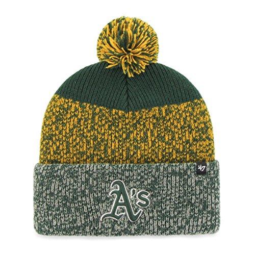 47 Brand Knit Beanie - Static Cuff Oakland Athletics Grün Oakland Athletics Design