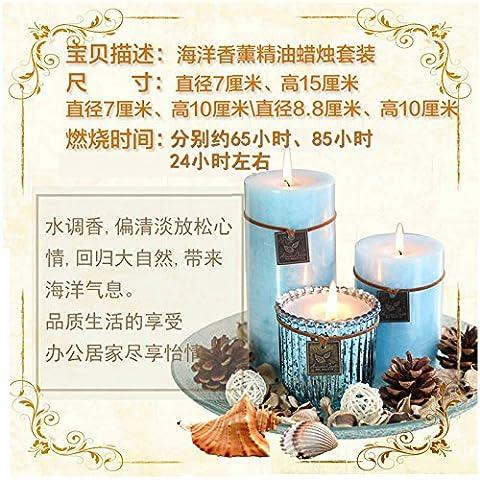 Aromaterapia naturale candele kit scatola regalo fresh