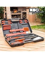 BBQ Master Tools Mallette d'accessoires pour barbecue (18pièces)- Noir