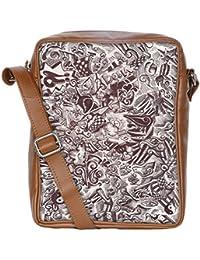 Snoogg Sketch Black And White Sling Bags Crossbody Backpack Chest Daypack Travel Bag Book Bag For Men&Women