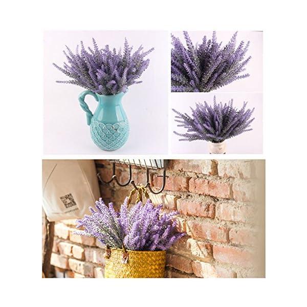 GKONGU 4 Paquetes Para la decoración del hogar Lavanda artificial