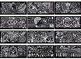 New Nail Art 5x XL Stamping Schablonen Set ca. 250 Motive Maniküre Gelnägel Zubehör extra groß für Nagel Design Pflege