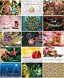 Weihnachtskarten Set mit 15 schönen Motiven als weihnachtliche Postkarten // Ideal als Weihnachtsgruß für Freunde oder Kollegen // UV-Hochglanzlackierung und 350g Bilderdruck für höchste Qualität