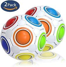 Splaks Magic Rainbow Ball Regenbogen Puzzle Zauberball Fidget Cube 2 Stück Konzentration Geschick für Kinder, für Erwachsene gegen Stress