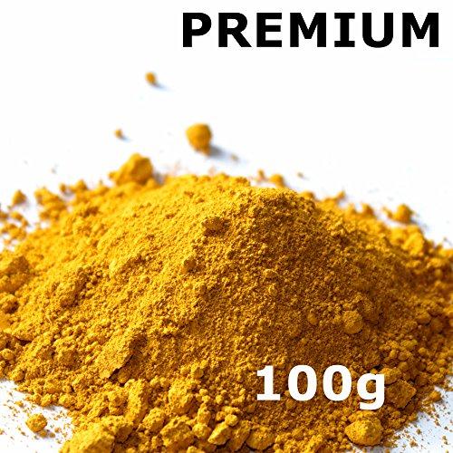 farbpulver Pigmentpulver, Eisenoxid, Oxidfarbe - 100g (29,90€/kg) im Beutel Farbpigmente, Trockenfarbe für Beton + Wand - Farbe: gelb