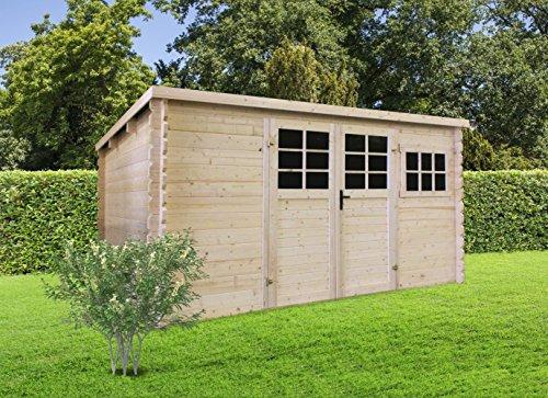 Gartenhaus Pirum P89493 - 34 mm Blockbohlenhaus, Nutzfläche: 9,92 m², Pultdach
