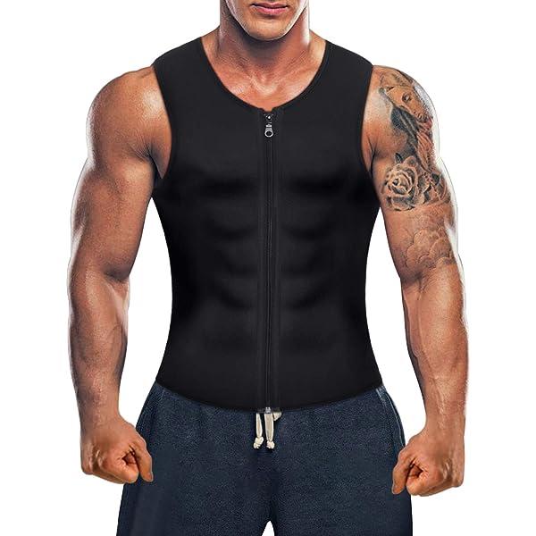 Bingrong Men Waist Trainer Vest for Weight Loss Hot Neoprene