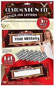 Forum Novelties X75916 At the Movies - Juego de carteles personalizados, multicolor, talla única